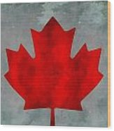 Flag Of Canada Wood Print