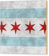 Flag Of Chicago Wood Print