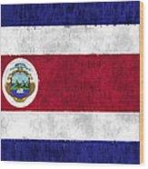 Flag Of Costa Rica Wood Print