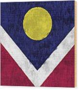 Flag Of Denver Wood Print