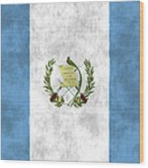 Flag Of Guatamala Wood Print