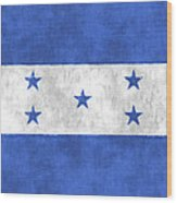 Flag Of Honduras Wood Print