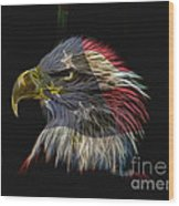 Flag Of Honor Wood Print