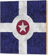 Flag Of Indianapolis Wood Print