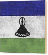 Flag Of Lesotho Wood Print