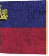 Flag Of Liechtenstein Wood Print