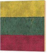 Flag Of Lithuania Wood Print
