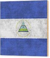Flag Of Nicaragua Wood Print