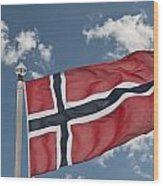 Flag Of Norway Wood Print