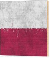 Flag Of Poland Wood Print