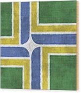 Flag Of Portland Wood Print