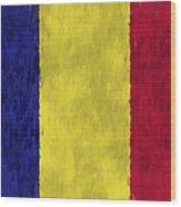 Flag Of Romania Wood Print