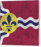 Flag Of St.louis Wood Print
