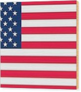 Flag Of The United States Of America Wood Print