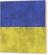 Flag Of Ukraine Wood Print