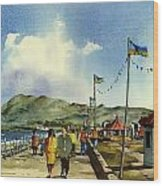 As I Walk Along The Promenade With An Independant Air  ....... Wood Print