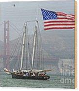 Flag Ship Wood Print