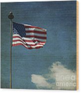 Flag - Still Standing Proud - Luther Fine Art Wood Print