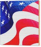 Flag Unfurl Wood Print