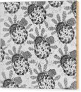 Flagellar Membranes Of Moth Sperm, Tem Wood Print