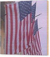 Flags At Cape May Nj Wood Print