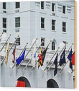 Flags At The Greenbrier Wood Print
