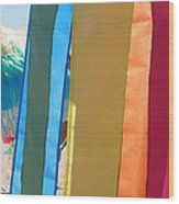 Flags In Provincetown Wood Print