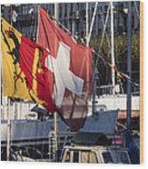 Flags Wood Print