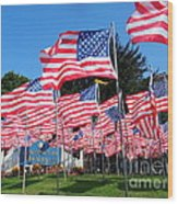 Flags Of Glory Wood Print
