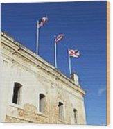Flags Of San Christobal Wood Print