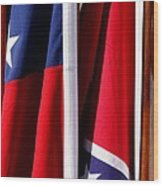 Flags Of The North And South Wood Print by Joe Kozlowski
