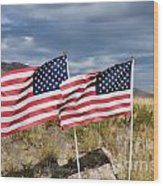 Flags On Antelope Island Wood Print