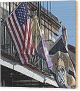 Flags On Bourbon Street Wood Print