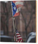 Flags Wood Print by Robert Ullmann