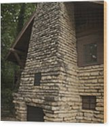 Flagstone Fireplace Wood Print