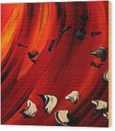 Flamboyant Wood Print