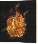 Flame Apple Wood Print