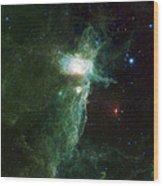 Flame Nebula Wood Print by Adam Romanowicz