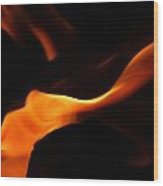Flame Of Passion Wood Print