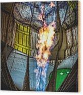 Flame On Wood Print