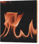 Flame With Images Wood Print