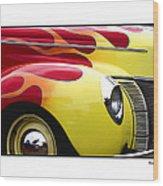 Flamed Ford Wood Print