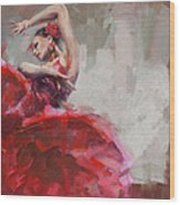Flamenco 53 Wood Print