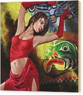 Flamenco Dancer 010 Wood Print