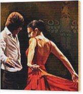 Flamenco Dancer 012 Wood Print