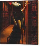 Flamenco Dancer 015 Wood Print by Catf
