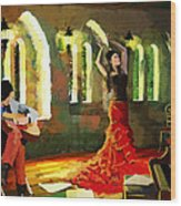 Flamenco Dancer 017 Wood Print