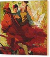 Flamenco Dancer 019 Wood Print by Catf