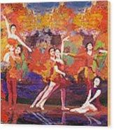 Flamenco Dancer 022 Wood Print by Catf