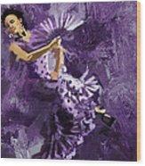 Flamenco Dancer 023 Wood Print